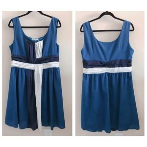 by Stella Medium Blue/Cream Dress - Sz XL
